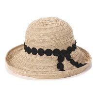 フェヌアハットMARULACEレディース帽子日本製麦わら麻リネンUV紫外線対策つば広全3色MサイズFENUA【UNI】