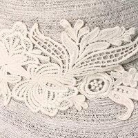 フェヌアキャスケットLACE日本製春夏レディース帽子クロッシェレース麻リネン全3色MサイズFENUA【UNI】