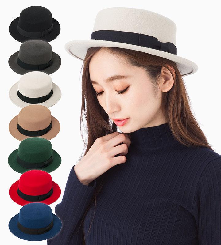 帽子 レディース フェルト カンカン帽 ハット カブロカムリエ CABLOCAMURIE 全7色 送料無料