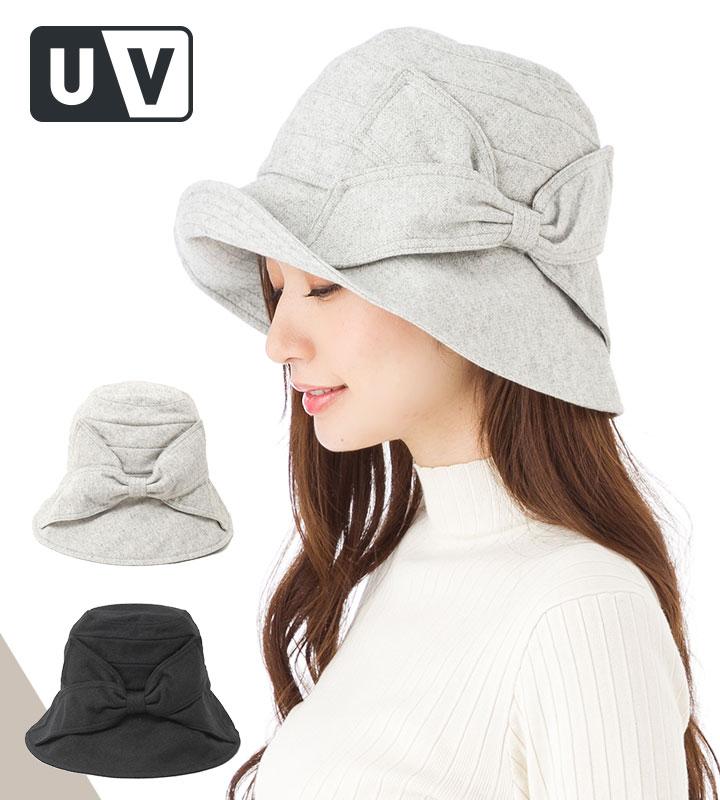 帽子 レディース つば広 UV帽子 UVカット 紫外線カット100% 秋冬モデル♪ リボンが可愛い カプリーヌ 人気のMIBUシリーズ カブロカムリエ 送料無料 【専用あごひも対応】【MB】【返品・交換対象外】