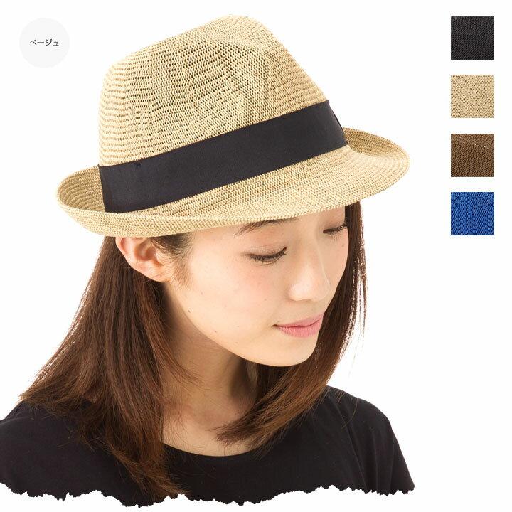 帽子 レディース 中折れ メッシュ素材で 涼しげ中折れハット カブロカムリエ 送料無料