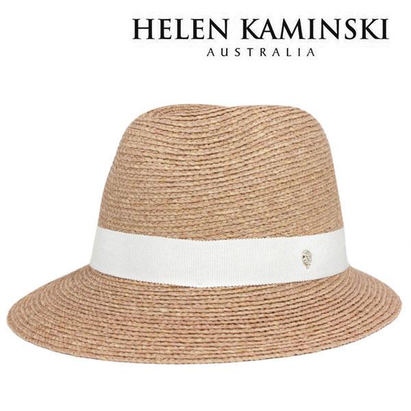ヘレンカミンスキー 帽子 レディース 中折れ 麦わら帽子 UVカット 紫外線UPF50+ 天然素材ラフィアの中折れストローハット HELEN KAMINSKI MERE 送料無料