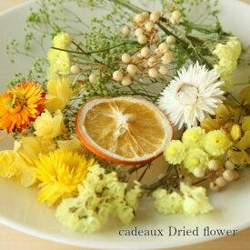 【送料無料/消費税込み価格】【flower gift】<フレッシュイエロー>ドライフラワー詰め合わせハーバリウムやアロマキャンドル。サシェの花材にお花のキット黄色系の詰め合わせ