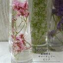 【入荷しました!】【あす楽おやすみ中です】【herbarium Bottle】ハーバリウムボトル サマーチェリー<ピンク>−植物標本−母の日ギフト