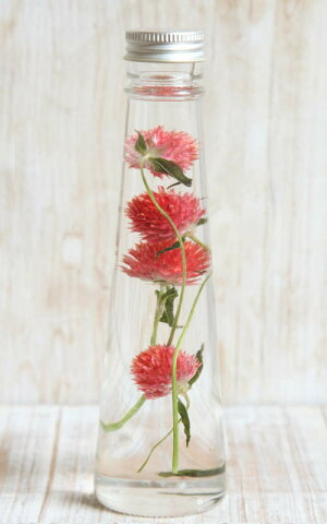 【herbariumBottle】ハーバリウムボトル千日紅<レッド>−植物標本−母の日ギフト