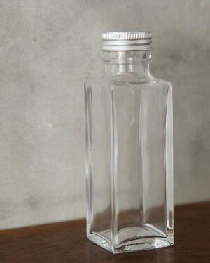【herbariumhandmade】ハーバリウム用ガラスボトル【プチサイズ・角瓶】100ml×10本セッ/ガラス瓶
