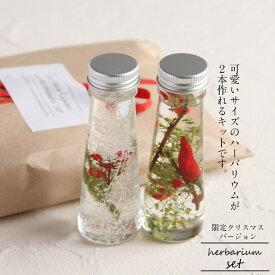 【ハンドメイド】クリスマスバージョン手作りハーバリウムキット届いてすぐ始まられる スターターキット 植物標本 花ギフ オリジナル【数量限定】