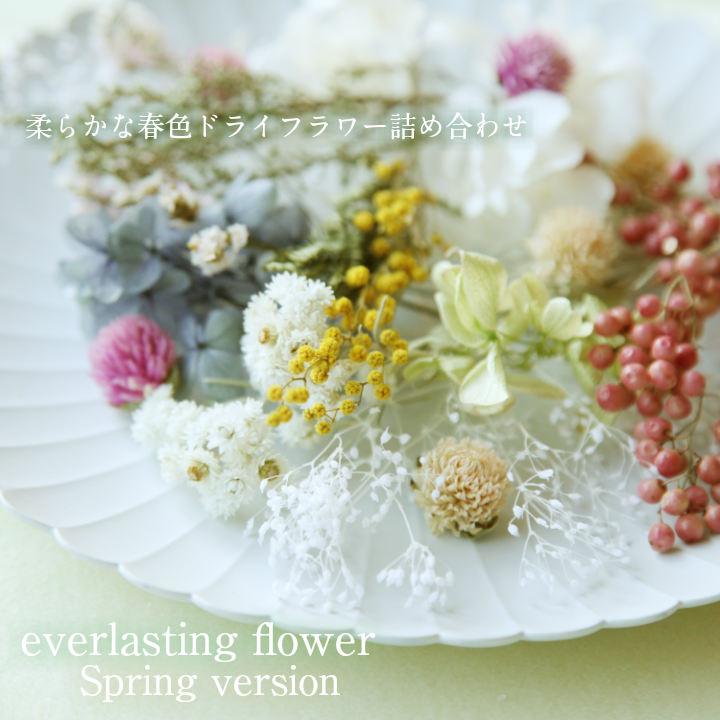 【送料無料/消費税込み価格】【flower gift】<スプリングバージョン>ドライフラワー詰め合わせハーバリウムやアロマキャンドル。サシェの花材に春色セットが登場お花のキット