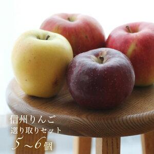 【予約】2021年10月ごろからお届けです【送料無料】信州のくだもの【フルーツ】信州のりんご箱よりどり食べ比べセット小1.5kg・5 個から6個<箱>【 ご家庭用】1箱冬ギフト/長野県