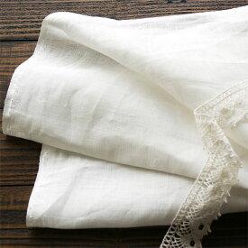 150cm巾 【 リネン 100% 生地 】 ホワイト 無地 普通地 1m単位 R0040 <旧品番 W-040> 【シーツ、ブラウス、チュニックなどに最適】 ( 幅広 麻 白 洋裁 ハンドメイド 手作り 晒 さらし )