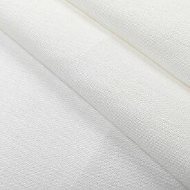 150cm巾 【 リネン 100%生地】 ホワイト 無地 中厚地 1m単位 R1025 <旧品番 OBR.1025> 【キッチンクロス、エプロン、タオル、カーテンに最適】 ( 幅広 麻 白 洋裁 ハンドメイド 手作り 晒 さらし )