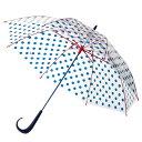 【メーカー公式ストア】Evereon傘 ドット ★Newハンドル 60cm 雨傘 かさ カサ umbrella アンブレラ ビニール ビニ…