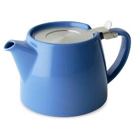 FORLIFE フォーライフ Stump スタンプ 309 ティーポット 530ml ブルー 紅茶 お茶 ハーブティー 茶葉 茶こし 急須 ロサンゼルス カフェ 重ねられる ギフト プレゼント 贈り物 パーティー