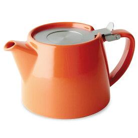 FORLIFE フォーライフ Stump スタンプ 309 ティーポット 530ml キャロットオレンジ 紅茶 お茶 ハーブティー 茶葉 茶こし 急須 ロサンゼルス カフェ 重ねられる ギフト プレゼント 贈り物 パーティー