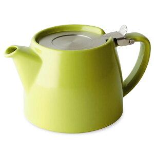 FORLIFE フォーライフ Stump スタンプ 309 ティーポット 530ml ライムグリーン 紅茶 お茶 ハーブティー 茶葉 茶こし 急須 ロサンゼルス カフェ 重ねられる ギフト プレゼント 贈り