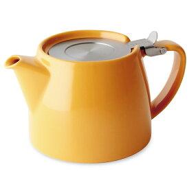 FORLIFE フォーライフ Stump スタンプ 309 ティーポット 530ml マンダリンオレンジ 紅茶 お茶 ハーブティー 茶葉 茶こし 急須 ロサンゼルス カフェ 重ねられる ギフト プレゼント 贈り物 パーティー