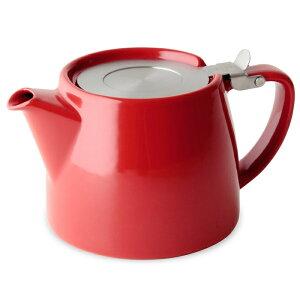 FORLIFE フォーライフ Stump スタンプ 309 ティーポット 530ml レッド 紅茶 お茶 ハーブティー 茶葉 茶こし 急須 ロサンゼルス カフェ 重ねられる ギフト プレゼント 贈り物 パー