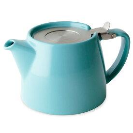 FORLIFE フォーライフ Stump スタンプ 309 ティーポット 530ml ターコイズブルー 紅茶 お茶 ハーブティー 茶葉 茶こし 急須 ロサンゼルス カフェ 重ねられる ギフト プレゼント 贈り物 パーティー