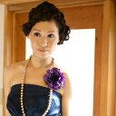 アネモネ コサージュ【紫】【モダンなアクセサリーは大人可愛くて甘くなりすぎない大人にもオススメ!】ドレスや着物、浴衣の髪飾りや…