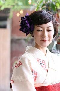 光沢ピオニー【紫】【コサージュケース付】オシャレな男性にもオススメしたいメンズコサージュ!