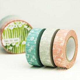 【ポストお届け可/6】 マスキングテープ 小さな花 3色セット 【マステ/倉敷意匠計画室】