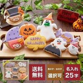 送料無料 ハロウィンのプレゼントに【送料無料ハロウィンクッキーset A】アイシングクッキー クッキー ハロウィン Halloween プレゼント ギフト 詰め合わせ 名入れ 文字入れ かわいい お菓子 個包装 プレゼント