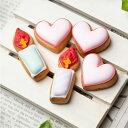 ケーキデコレーション用 【ハート&ろうそく(5個入り)】アイシングクッキー クッキー デコレーションケーキ オリジナ…