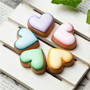 ケーキデコレーション用 【ケーキデコ用ハート5個入】アイシングクッキー クッキー デコレーションケーキ オリジナルケーキ 誕生日 バースデー ケーキ かわいい お菓子