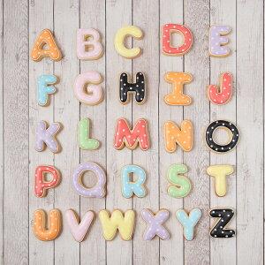 ケーキデコレーション用 【アルファベットクッキー】アイシングクッキー クッキー アルファベット イニシャル デコレーションケーキ オリジナルケーキ かわいい お菓子