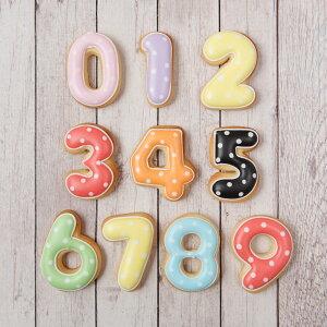 ケーキデコレーション用 【数字クッキー】誕生日 アイシングクッキー クッキー 数字 デコレーションケーキ オリジナルケーキ かわいい お菓子