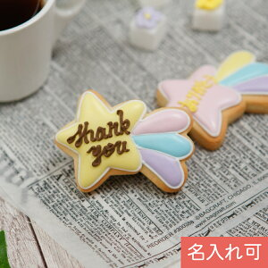 オリジナルメッセージを添えて【流れ星クッキー】アイシングクッキー クッキー 名入れ 文字いれ プチギフト ケーキデコレーション 星 流れ星 かわいい お菓子