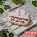 名入れ・メッセージ入れ可能!オリジナルメッセージ・名入れアイシングクッキー 【動物プレート(ウサギ)】クッキー バ…