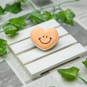 【スマイルハート】アイシングクッキー プチギフト かわいい お菓子 名入れ ケーキトッピング トッパー 笑顔