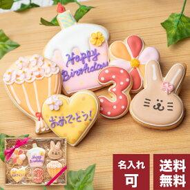 送料無料 誕生日プレゼントにお名前入り【送料無料バースデーギフト GIRL】アイシングクッキー クッキー ギフト 詰め合わせ 誕生日 100日 名入れ 文字入れ 女の子 GLRL かわいい お菓子