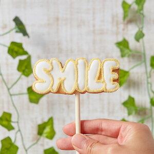 新発売!!【SMILEポップ】 アイシングクッキー かわいい お菓子 ギフト 結婚式 フォトプロップス 棒付き