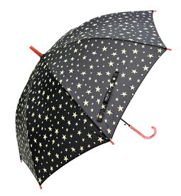 CAFE DIMLYUVインディゴスターBK 星柄 カフェディムリー キッズカサ 子供傘 レディース傘60CMジャンプ傘グラスファイバー樹脂骨使用晴雨兼用 UVカット率90%以上カバンが濡れにくい大きめサイズ