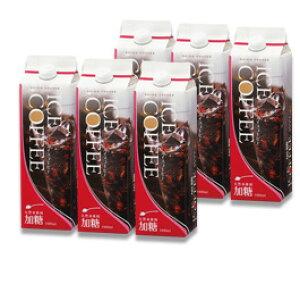 【ギフト】【送料無料】加糖6本ギフト(天然水アイスコーヒー加糖1000ml×6本)(KL-35)【カフェ工房】【お中元】【プレゼント】