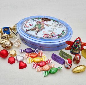 【カファレル caffarel】フィナルメンテ・スタセーラ★クリスマスのギフトやプレゼントに人気★クリスマス限定缶★イタリア の老舗チョコレートブランド
