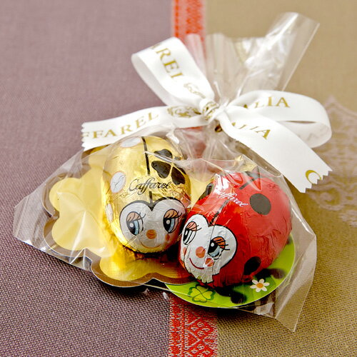 【Caffarel カファレル】てんとう虫2個セット チョコレート チョコレート、イタリア、トリノ、カファレル、イタリア、老舗、プランドチョコ、ジャンドゥーヤ、てんとう虫、ラッキー、ハッピー、幸運