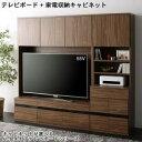 ★ポイントUp6.5倍★ハイタイプテレビボードシリーズ Glass line グラスライン 2点セット(テレビボード+キャビネット…
