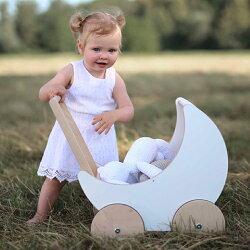 oohnooオーノーToyPram木製玩具手押し車月形おもちゃ入れ