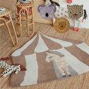 ラグ おしゃれ 厚手 アニマル 動物 レインボー 虹 デザイン 北欧 デンマーク ラグマット カーペット リビング 子供部屋 グレー 絨毯 かわいい ニューボーンフォト ハンドメイド 出産祝い ギフト オイオイ OYOY mini Rug