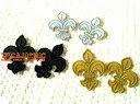 LilyCrest(S)2枚セット全3色/ミニ/ゆり/花/百合/紋章/エンブレム/ワンポイント/入園/入学/女の子/大人/おしゃれ/かわいい/ハンドメイド…