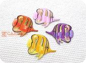 新商品☆きらきらエンゼルフィッシュ全4種/熱帯魚/海/マリン/ラメ/アウトドア/釣り/入園/入学/女の子/男の子/大人/おしゃれ/かわいい/ハンドメイド/雑貨/刺繍ワッペン/アイロン接着/リメイク/デコ/アップリケ/CaJu+NiC[カジュニック]【ワッペンのみ!メール便送料無料☆】