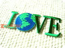 Earth.LOVE/Eco/ラブ/地球/自然/アウトドア/入園/入学/植物/自然/大人/ロゴ/文字/おしゃれ/ハンドメイド/雑貨/刺繍ワッペン/アイロン接…