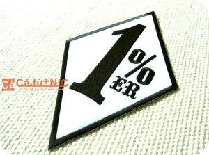1%ER.WH×BK1%大判BIG/標識/海外/自動車/バイク/ロック/バイク/バイカー/ロゴ/アメリカン/入園/入学/ハンドメイド/雑貨/刺繍ワッペン/アイロン接着/リメイク/デコ/アップリケ/CaJu+NiC[カジュニック