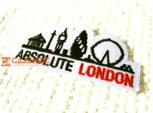 ABSOLUTE LONDON/ロンドン/イギリス/お土産/旅行/ロゴ/文字/大人/入園/入学/旅行/海外/モダン/おしゃれ/ハンドメイド/雑貨/刺繍ワッペン/アイロン接着/リメイク/デコ/アップリケ/CaJu+NiC[カジュニ