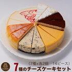 バースデーケーキ10種のチーズケーキセット7号21.0cmカット済み送料無料