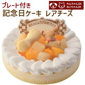 記念日ケーキ レアチーズ 誕生日ケーキ バースデーケーキ ワンちゃん用 犬用 ペットケーキ (ペットライブラリー or partnerfoods)