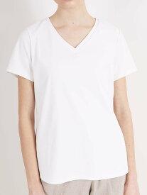 【VネックTシャツ】 ブイネック Tシャツ キレイ目Tシャツ 春 夏 ホワイト ブラック カーキ ピンク 白 黒 オリーブ おしゃれ 半袖 無地カットソー 半袖カットソー レディース 半袖tシャツ 着やせTシャツ カジュアル 上品